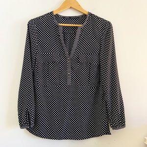 Zara polka dot popover blouse